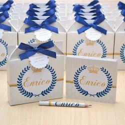 Lembrancinhas maternidade caixinha com bloquinho de anotações tema coroa