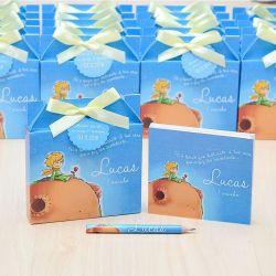 Lembrancinhas maternidade caixinha com bloquinho de anotações tema pequeno principe