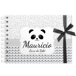 Livro do Bebê - diário para registrar momentos especiais personalizado tema panda
