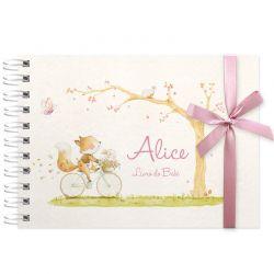 Livro do Bebê - diário para registrar momentos especiais personalizado tema raposinha e floresta