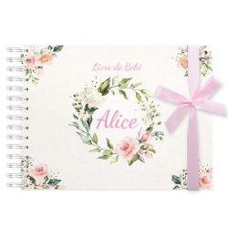Livro do Bebê Personalizado menina flores