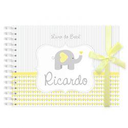 Livro do Bebê Personalizado elefante