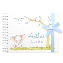 Livro do Bebê Personalizado menino elefante