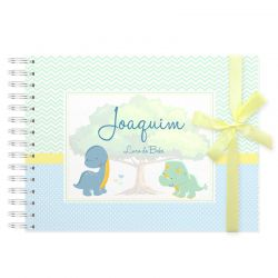 Livro do Bebê Personalizado menino dinossauros