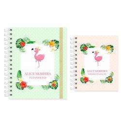 Planner  2020 tropical e flamingos
