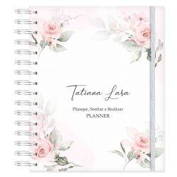 Planner Permanente Personalizado Floral Delicado