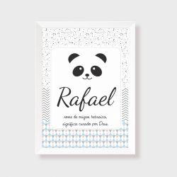 Quadro  decorativo para quarto ou maternidade coleção Panda