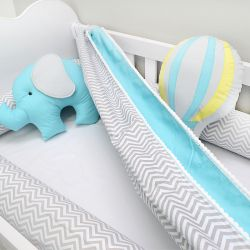 Rede para Berço tema elefante e balões chevron