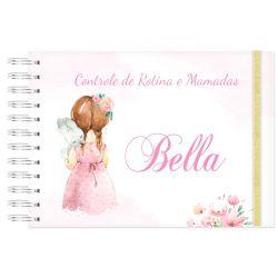 Controle de Rotina do Bebê Menina Rosa