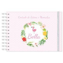 Rotina do Bebê e controle de mamadas tropical e flamingos