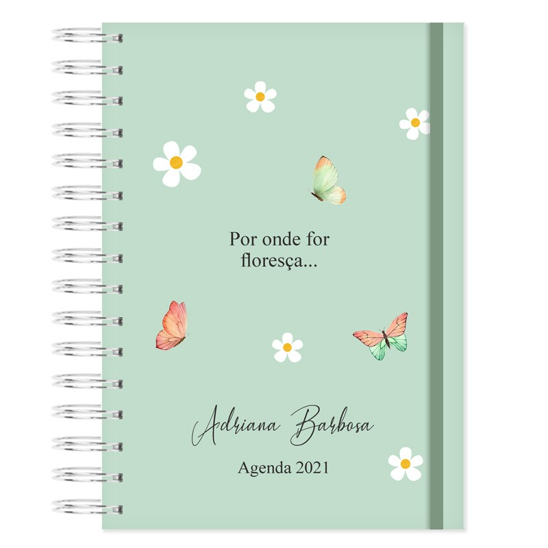 Agenda Personalizada  2021 - Floral Bonina