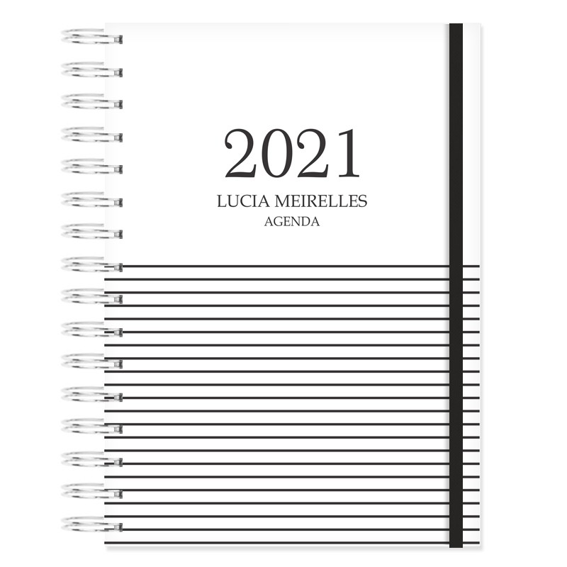Agenda Personalizada 2021 - Minimalista