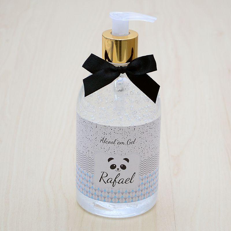Álcool em gel antisséptico para mãos decoração para o quarto do bebê tema panda 500 ml  - Valentina Milan Lembrancinhas