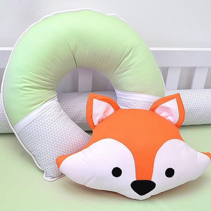 Almofada para amamentação do bebê tema raposinha  bichinhos da floresta  - Valentina Milan Lembrancinhas