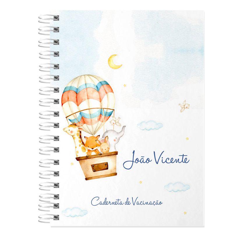 Caderneta de Vacinação e Saúde Personalizada completa tema bichinhos e balões  - Valentina Milan Lembrancinhas
