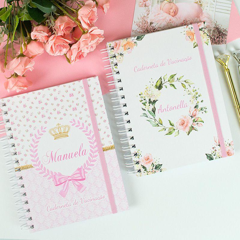 Caderneta de Vacinação personalizada nuvem chuva de amor  - Valentina Milan Papelaria