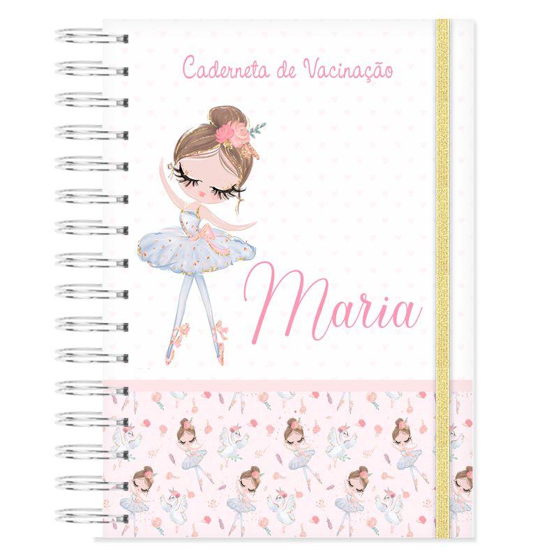 Caderneta de Vacinação personalizada bailarina  - Valentina Milan Papelaria