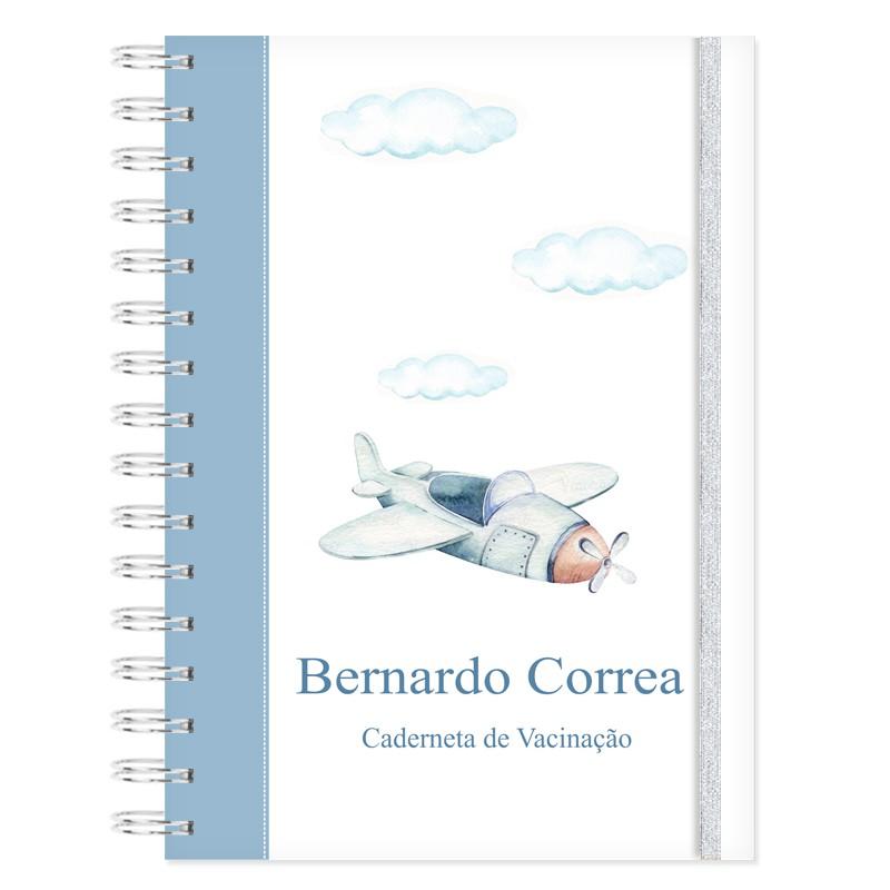 Caderneta de Vacinação personalizada Aviões