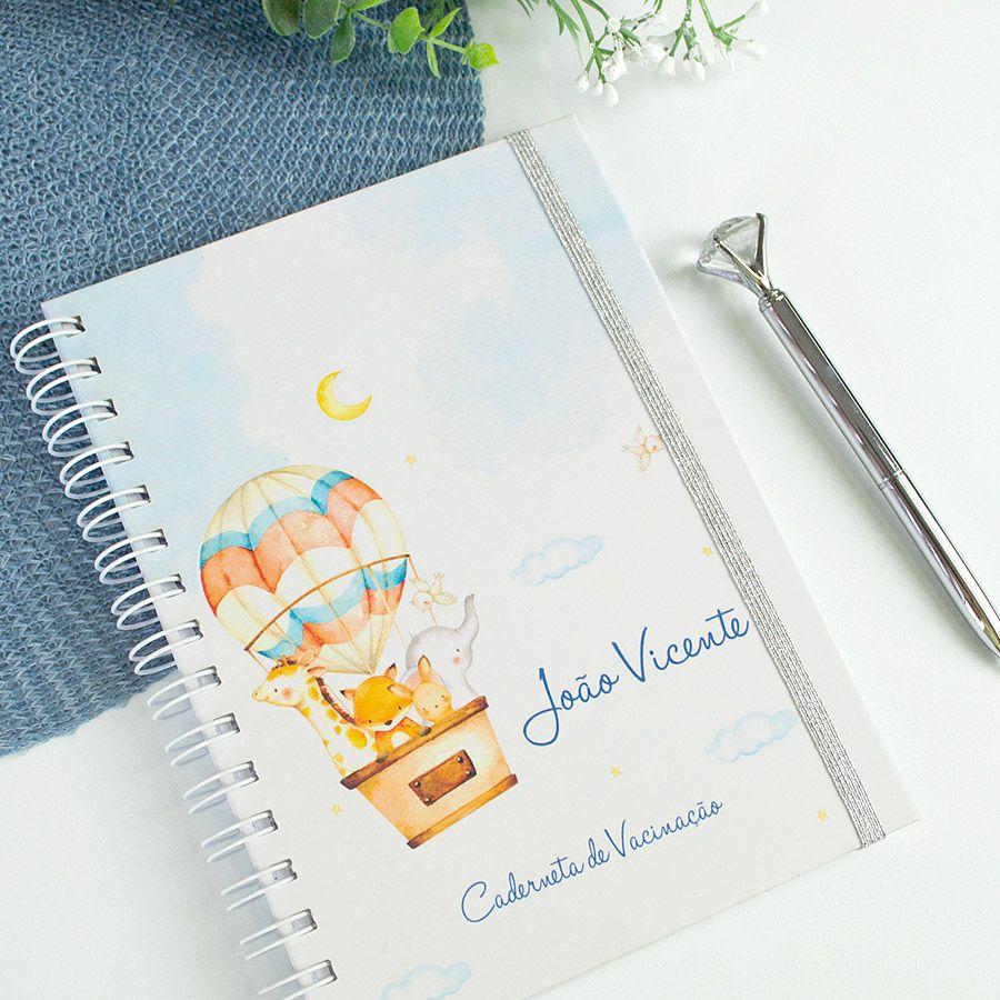 Caderneta de Vacinação personalizada bichinhos do safari  - Valentina Milan Papelaria