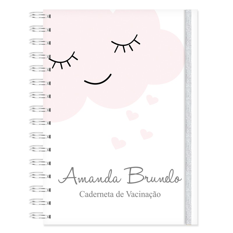 Caderneta de Vacinação personalizada  Chuva de Amor / Nuvem