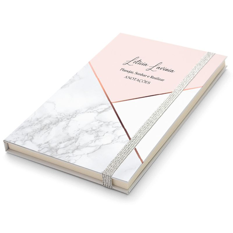 Caderninho Moleskine Personalizado - Marmorizado