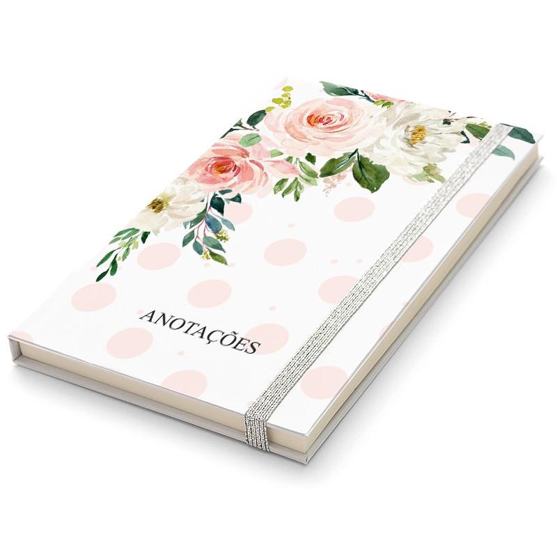 Caderninho Moleskine Floral