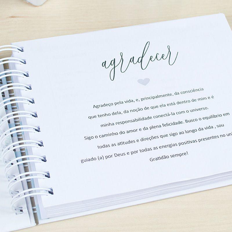 Caderno da Gratidão - Agradecimento a Deus  - Valentina Milan Papelaria