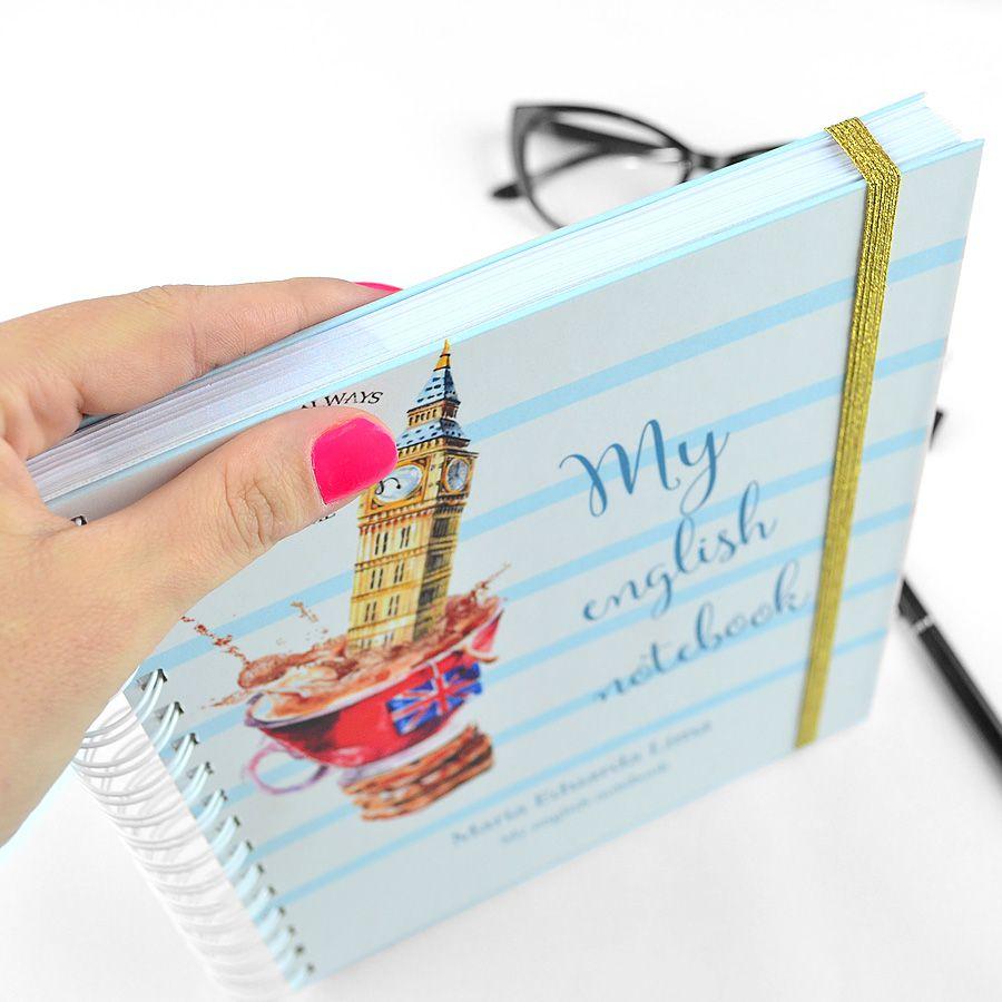 Caderno de Estudos Inglês  - Valentina Milan Papelaria