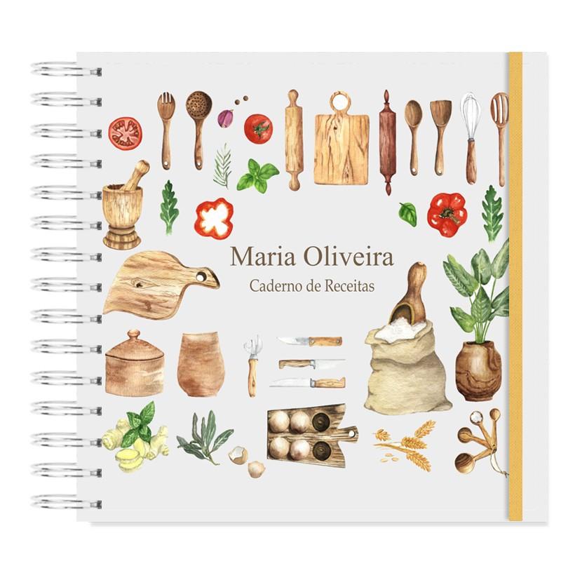 Caderno de Receitas - Cozinha rústica