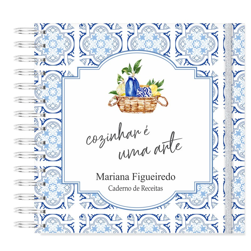 Caderno de Receitas decorado