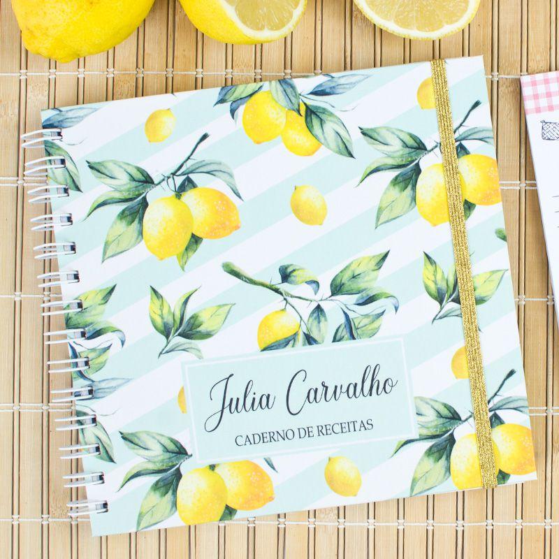 Caderno de Receitas Personalizado  Doces e Sobremesas  - Valentina Milan Papelaria