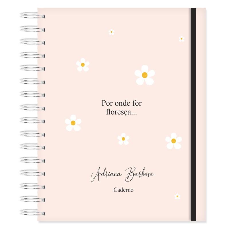 Caderno personalizado Bem-me-quer