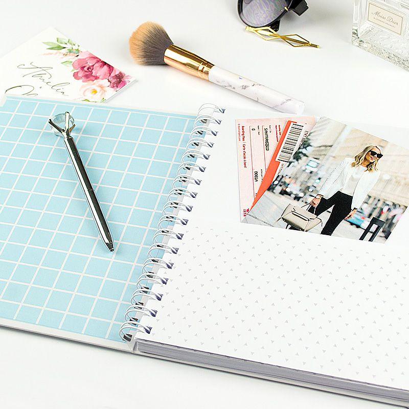 Caderno personalizado Elegante  - Valentina Milan Papelaria