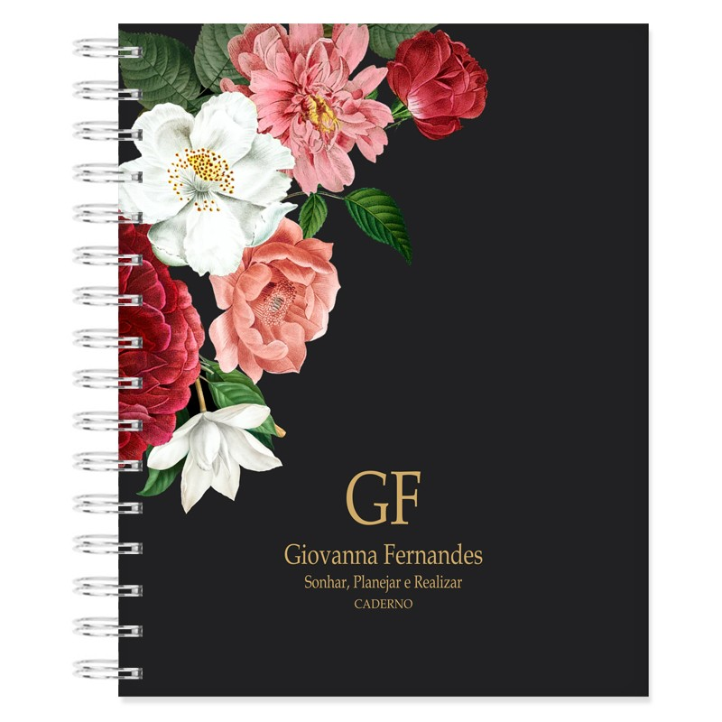 Caderno personalizado Floral Latino