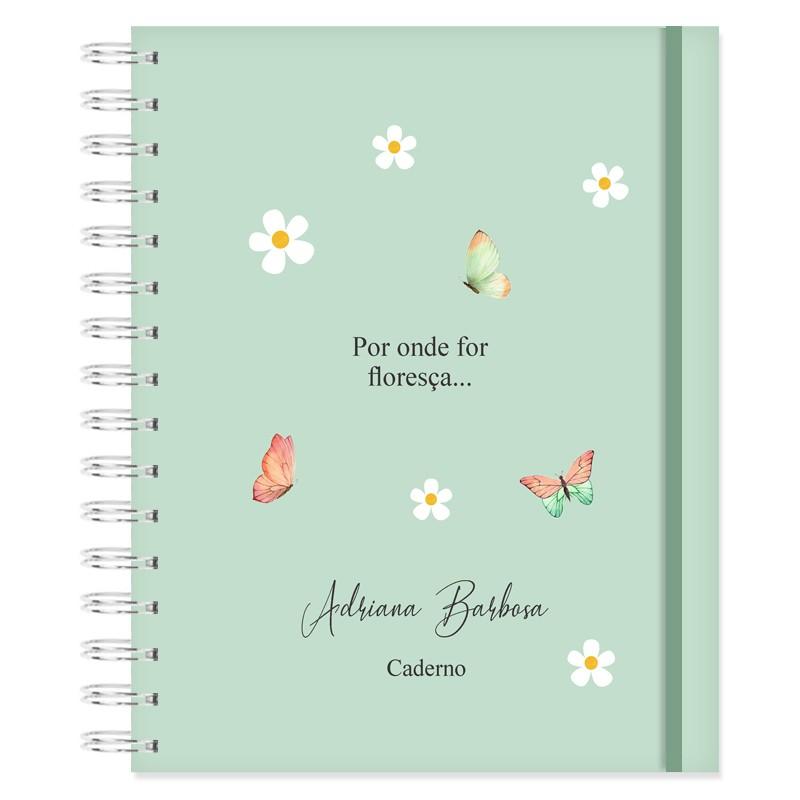 Caderno personalizado Floral Bonina