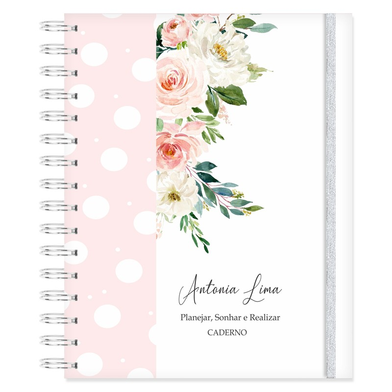Caderno personalizado Florescer