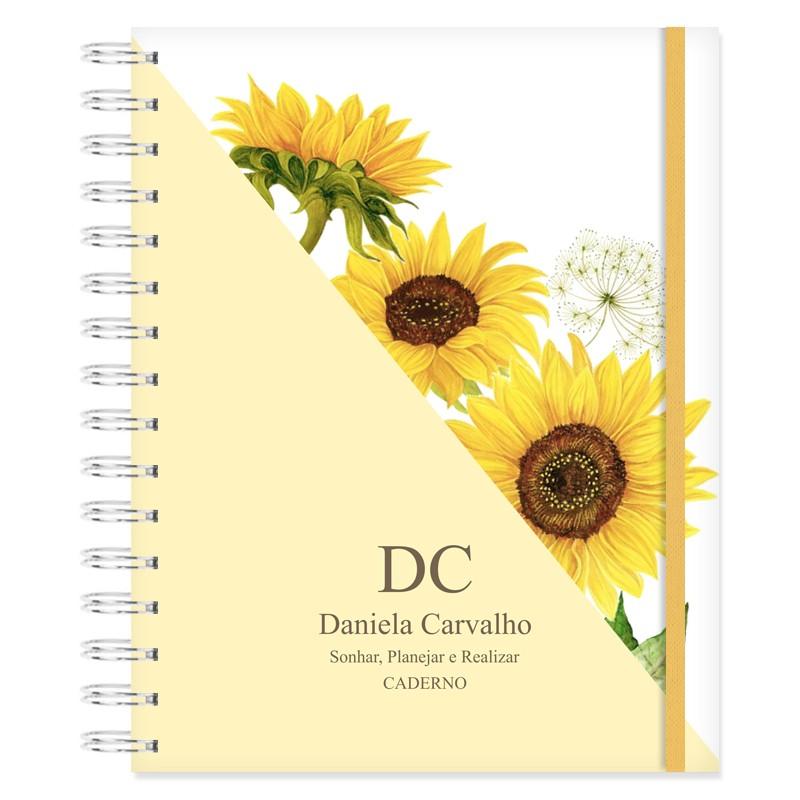 Caderno personalizado Girassol