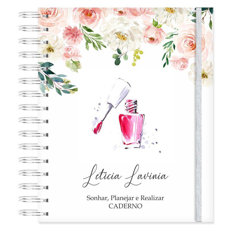 Caderno personalizado - Manicure