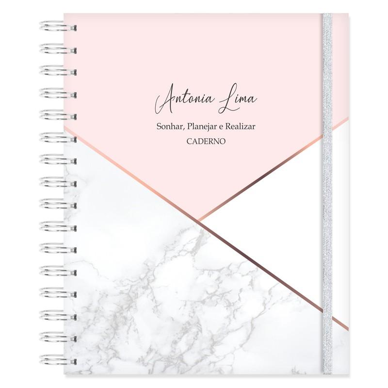 Caderno personalizado Marmorizado