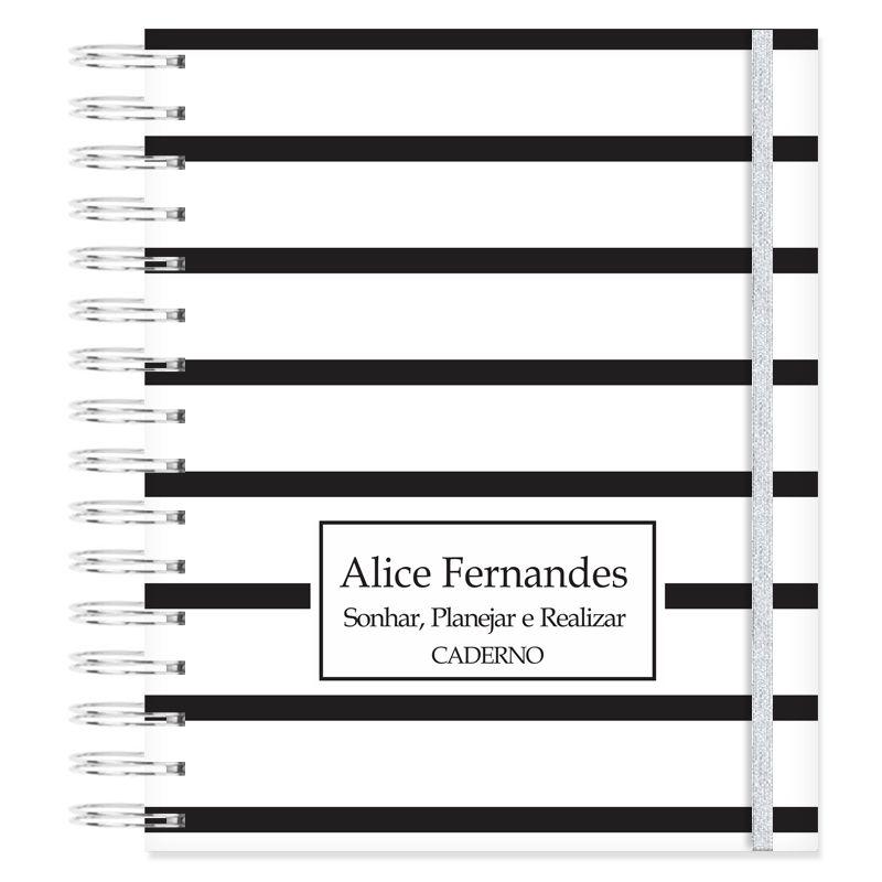 Caderno personalizado Minimalista