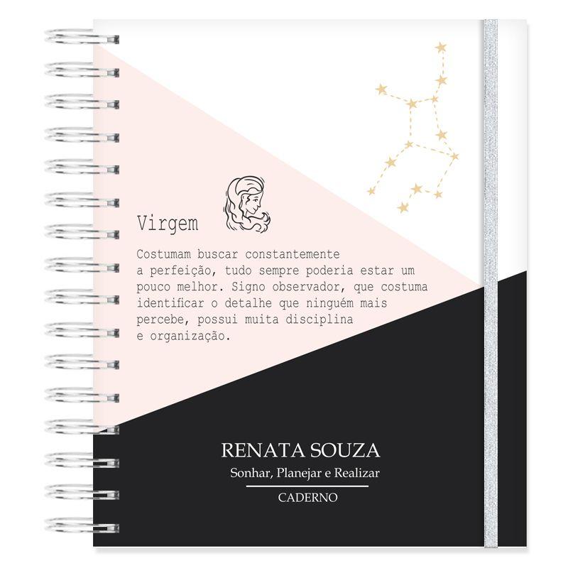 Caderno personalizado Signo de Virgem  - Valentina Milan Papelaria