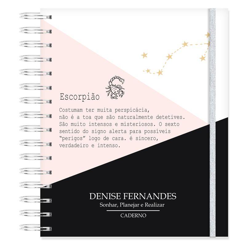 Caderno personalizado Signo Escorpião