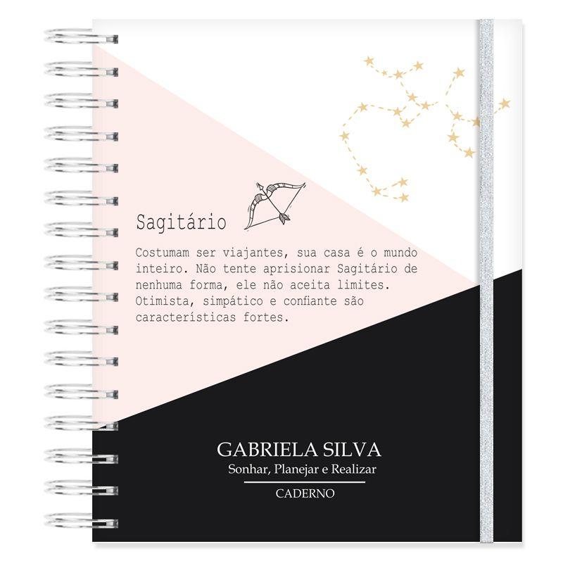 Caderno personalizado Signo Sagitário