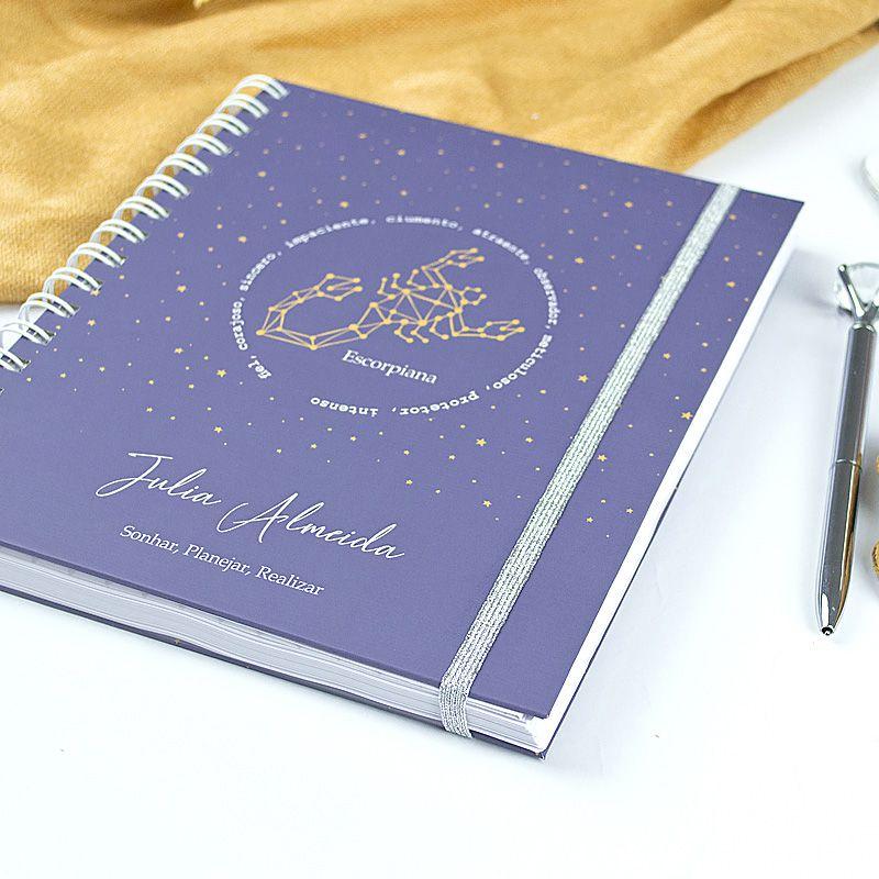 Caderno personalizado Signo Peixes  - Valentina Milan Papelaria