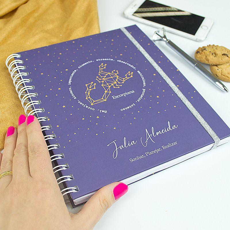 Caderno personalizado Signo Sagitário  - Valentina Milan Papelaria