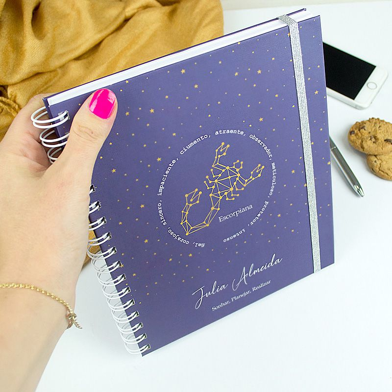 Caderno personalizado Signos de  Sagitário  - Valentina Milan Papelaria