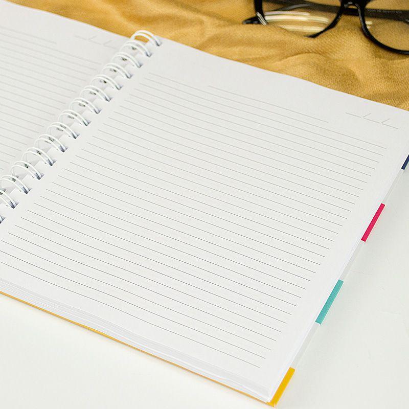 Caderno personalizado Listras e Frase  - Valentina Milan Papelaria