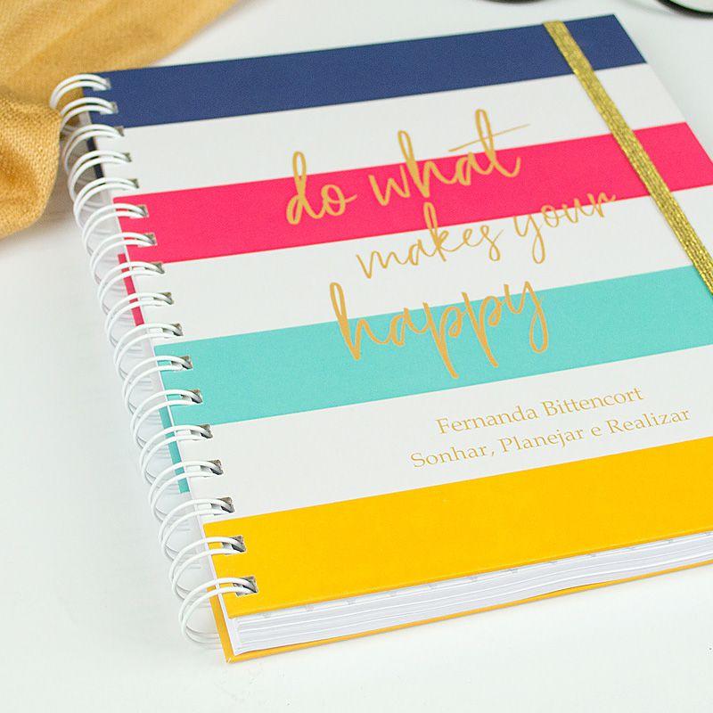 Caderno personalizado Floral   - Valentina Milan Papelaria
