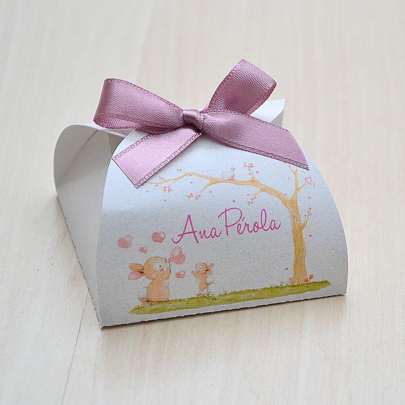 Caixinha personalizada para bombom ou bem nascido tema bichinhos floresta  - Valentina Milan Lembrancinhas