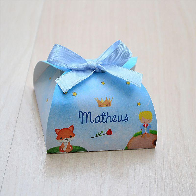 Caixinha personalizada para bombom ou bem nascido tema pequeno principe  - Valentina Milan Lembrancinhas